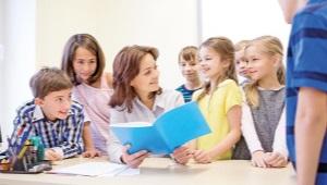 Школа дети и учитель